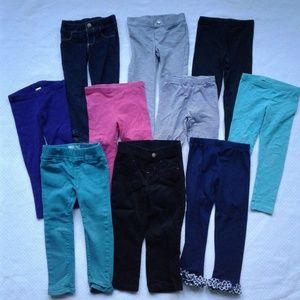 Other - Girls Pants 3T Gap Gymboree Carters Lot 10 Pairs